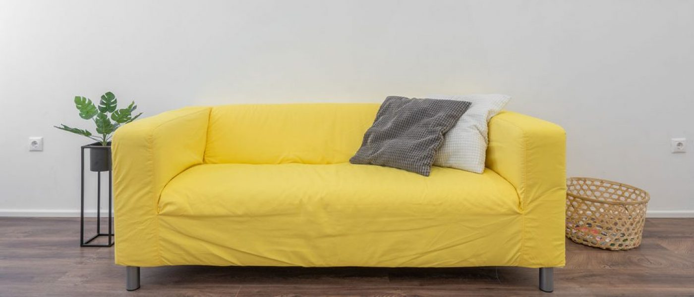 Bright yellow sofa furniture