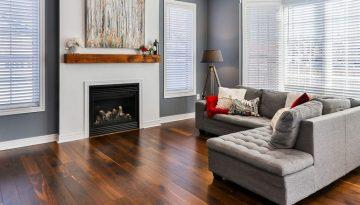 Wood floor panelling