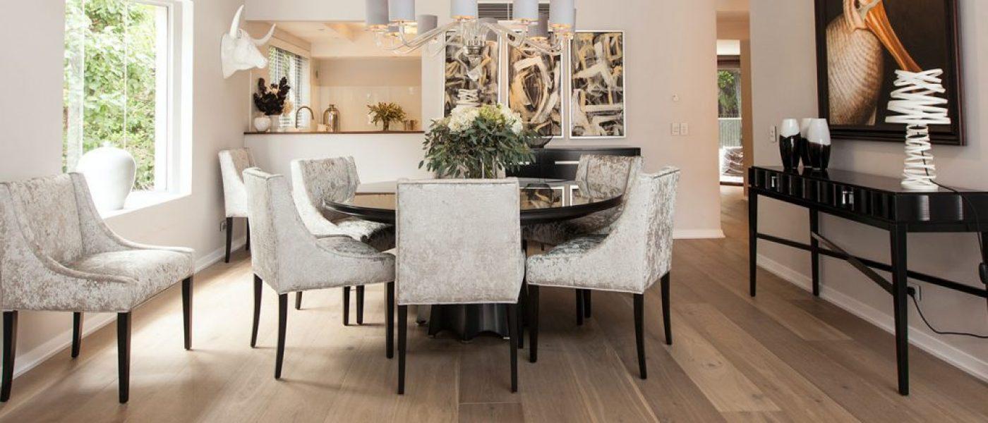 European dining room interior